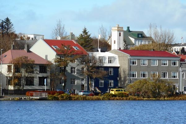 The pond in Reykjavik, 2020