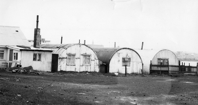 "Huts built by the Allied occupation force during World War II in Iceland. Starting with the housing shortage in Reykjavik, Icelanders lived in the huts for many decades. They were called ""braggar,"" probably derived from the word barracks."